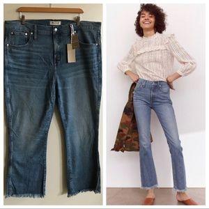 Madewell 35/20 tall long Cali Demi boot jeans NWT